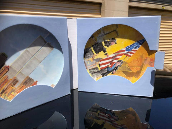 9 11 World Trade Centers New York Firefighter Never Forget Limoges Collection Plates - Never Forget - Only 8 Left.
