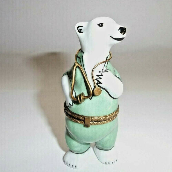 Medical Doctor Nurse Polar Bear Limoges Box - This will take 3 extra days to ship out