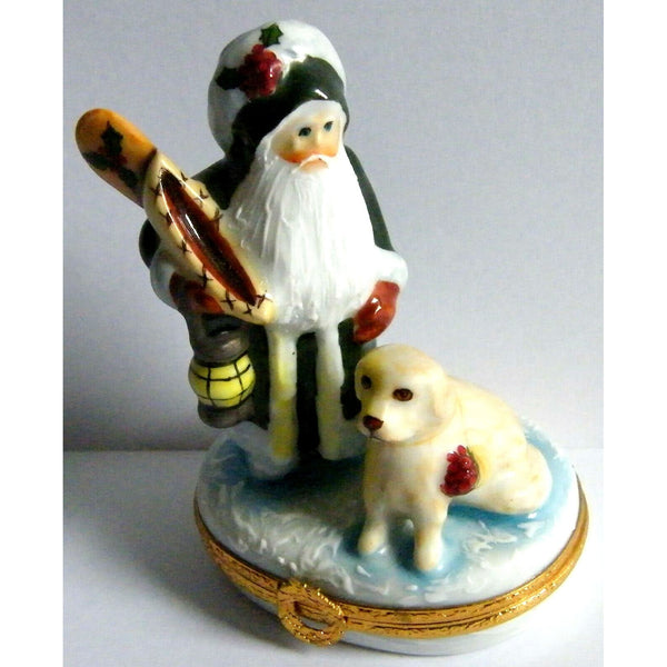 Lynn Haney: Snowbound Santa Limoges Box
