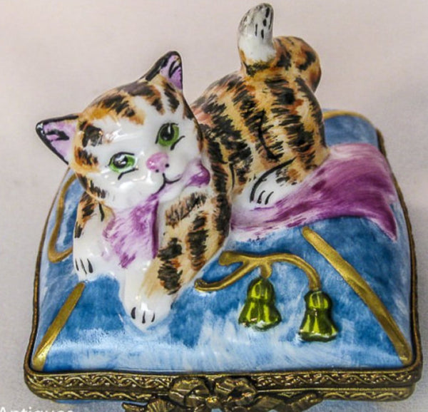 Cat on Pillow Scarf  - RARE RETIRED - 3 Extra Days to Ship