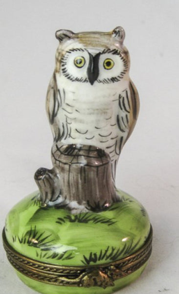 Owls on Stump- RARE RETIRED - 3 Extra Days to Ship