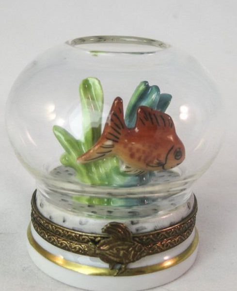 Gold Fish in Bowl - RARE RETIRED - 3 Extra Days to Ship