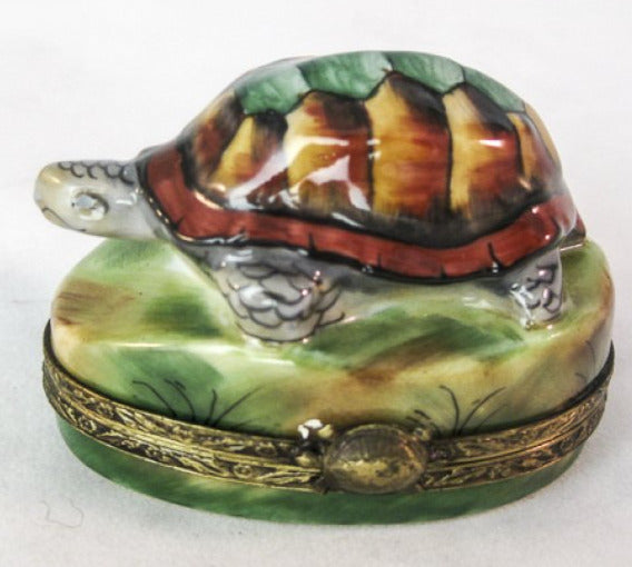 Turtle on Rock- RARE RETIRED - 3 Extra Days to Ship