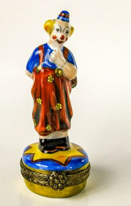 Small Clown w Flowers - EXTREMELY RARE RETIRED - 3 Extra Days to Ship