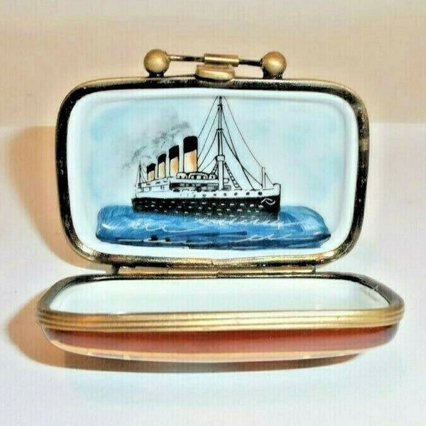 Cruise Ship Suitcase Travel Limoges Box - This will take 3 extra days to ship out