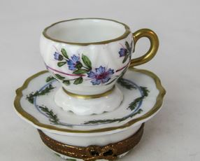 Tea Cup w Purple Flowers- EXTREMELY RARE RETIRED - 3 Extra Days to Ship