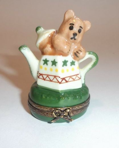 Teddy Bear Teapot China French France Limoges Box