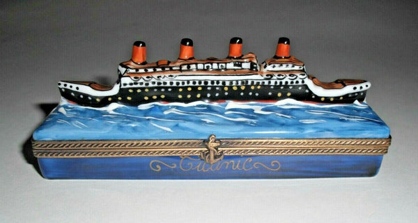 Titanic on Water Limoges Box - 3.5""