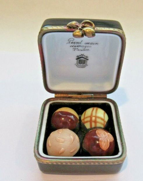 Truffles in Chocolate Box w Flowers Limoges Box - This will take 3 xtra Days to Ship