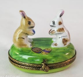 Two Easter Rabbits - RARE RETIRED - 3 Extra Days to Ship