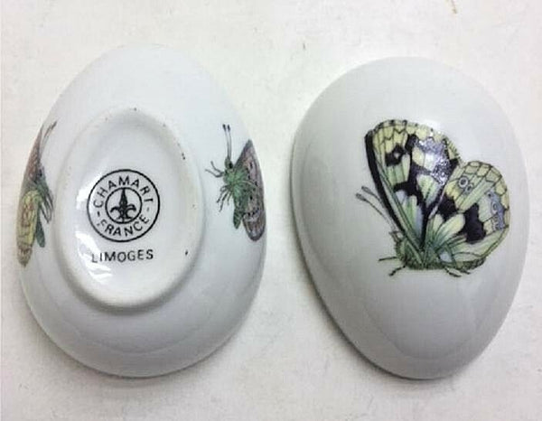 Green Blue Butterfly - UNHINGED Chamart - Limoges Box