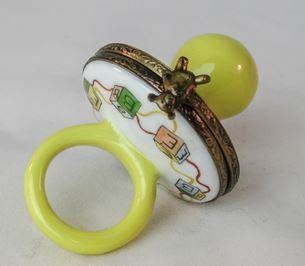 Yellow Pacifier Baby - RARE RETIRED - 3 Extra Days to Ship