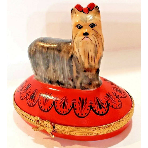 Yorkshire Dog Terrier Limoges Box