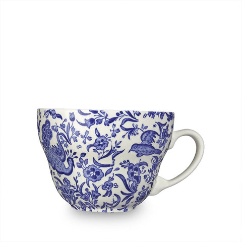 Blue Regal Peacock Breakfast Cup
