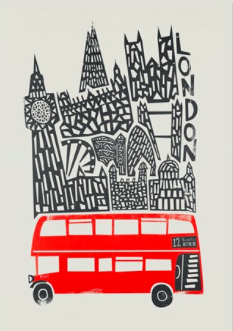 London Bus  - Card