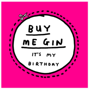 Buy Me Gin- Card