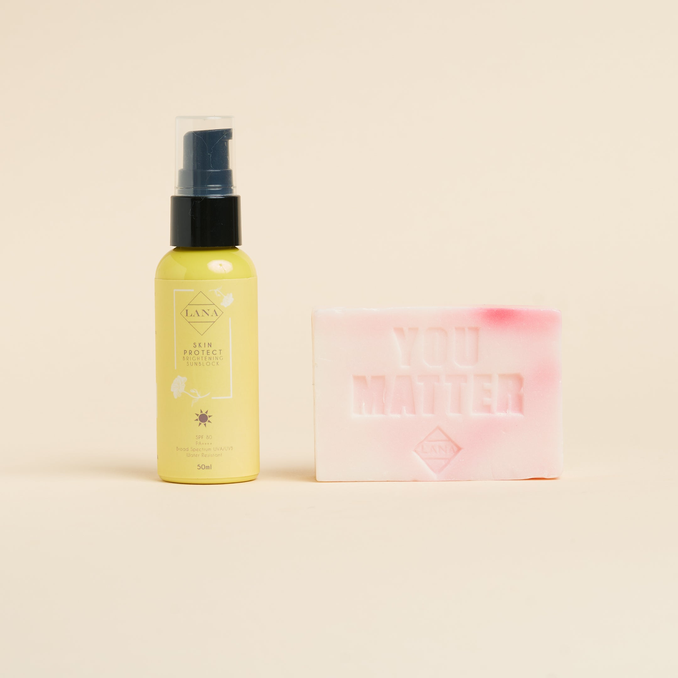 Brightening Sunblock and Brightening Soap Gift Set