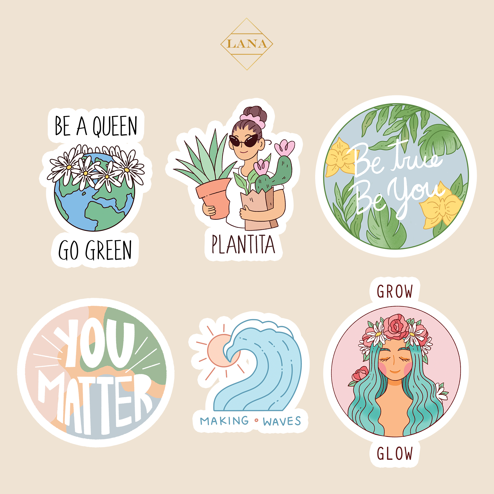 #LanaConfidence Sticker Set
