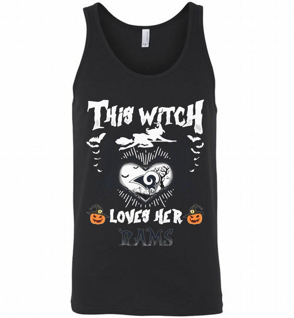 Los Angeles Rams This Witch Loves Her Rams Halloween Tank Shirts