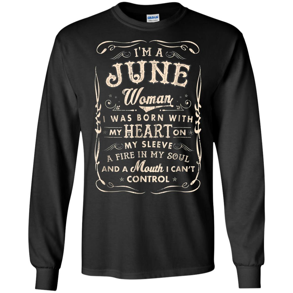 ac99e7ed687 I m a June Woman T-Shirt Birthday Gift Shirt - USATeeCollection Store
