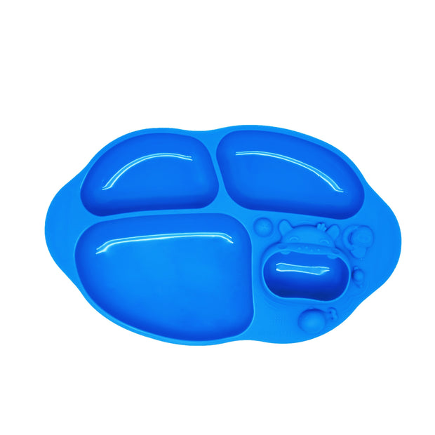 marcus marcus suction divided plate blue oma care
