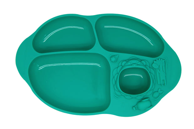 marcus marcus suction divided plate green oma care
