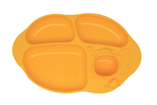 marcus marcus suction divided plate yellow oma care