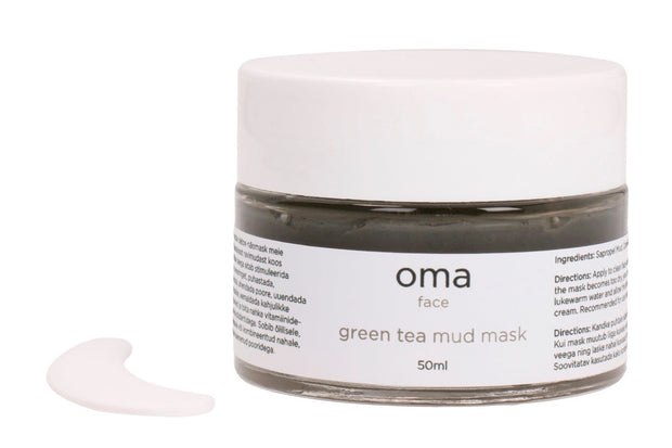 oma green tea mud mask