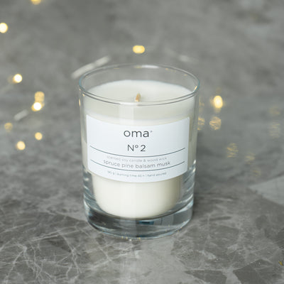 N°2 - Soy Candle with Wood Wick, 190g
