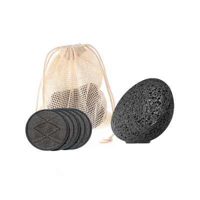 Oma Care Set Organic Cotton Pads & Organic Konjac Sponge