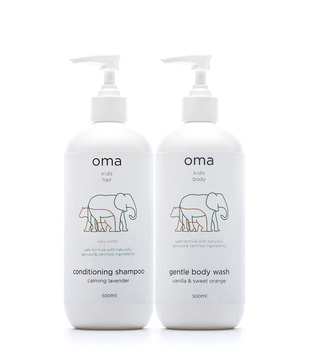 Bundle: Kids Gentle Body Wash, 500ml + Conditioning Shampoo, 500ml