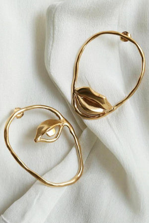 Dora Maar, 18 carat gold plated earrings