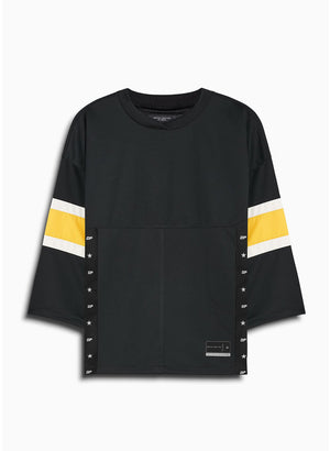 3/4 sleeve jersey t-shirt