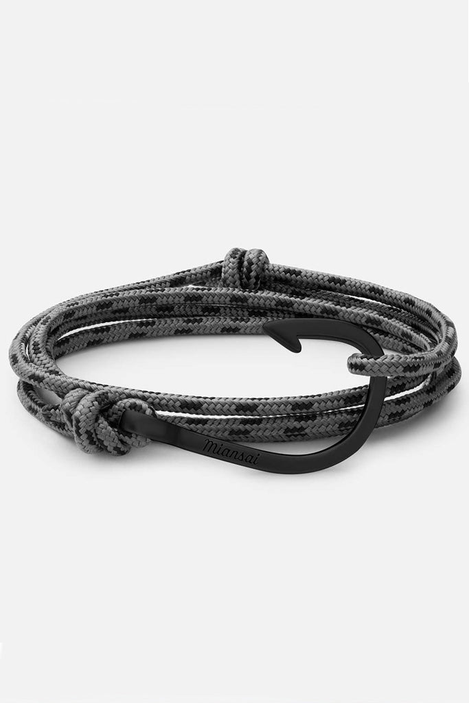 Hook Rope, Concrete Grey bracelet