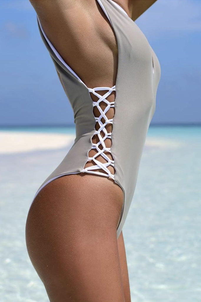 Hydra Swimsuit with rope lace on both sides