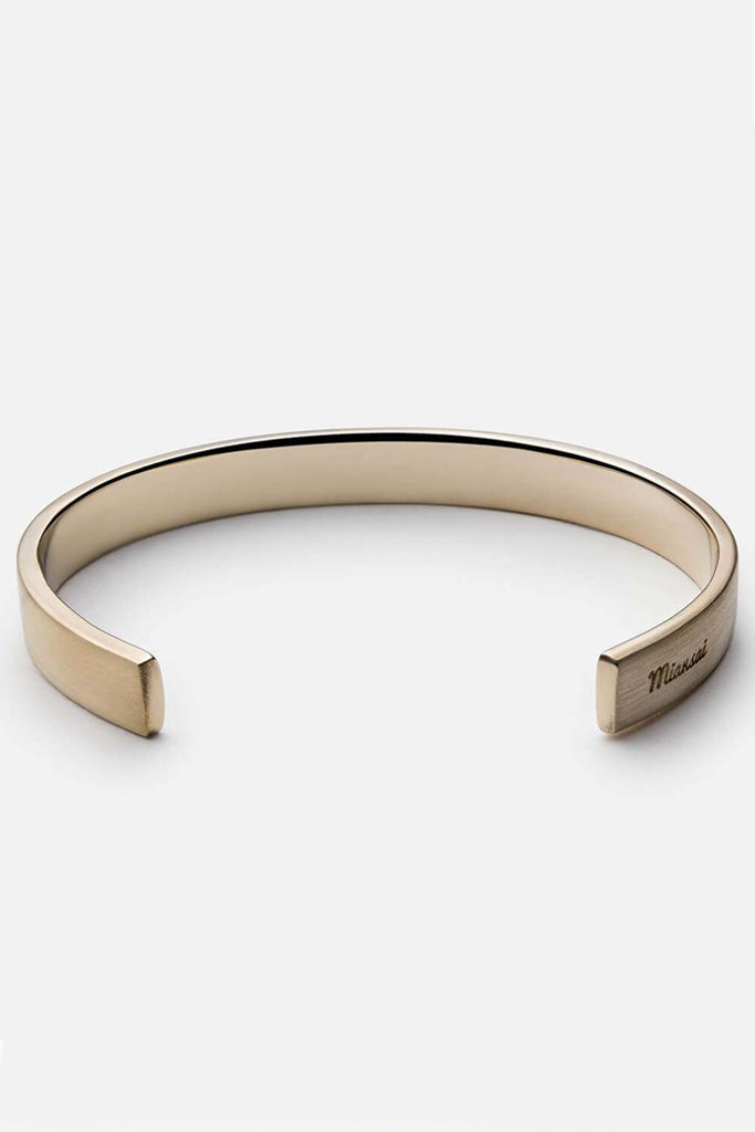 Label Cuff, Brass bracelet