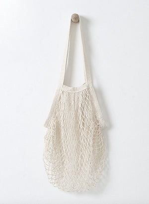 Tote net white shopping bag