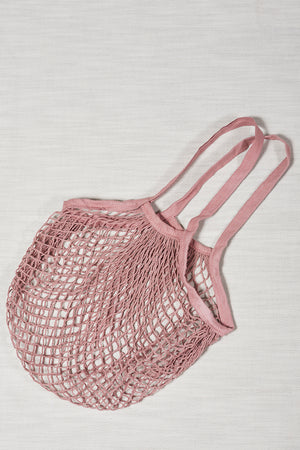 Tote net rose shopping bag