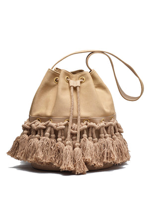 Damya tassel bucket bag