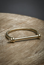 Screw Cuff, Brass bracelet