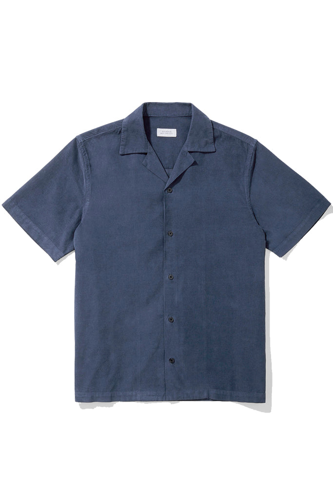 Canty cord short sleeve navy shirt
