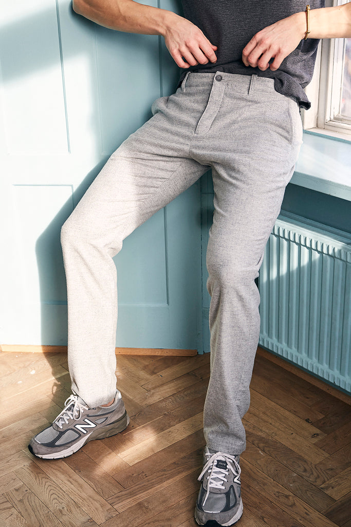 Deja Vu grey wool trousers