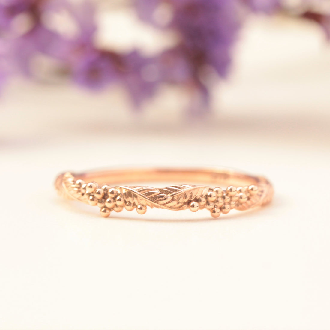 wattle ring in rose gold