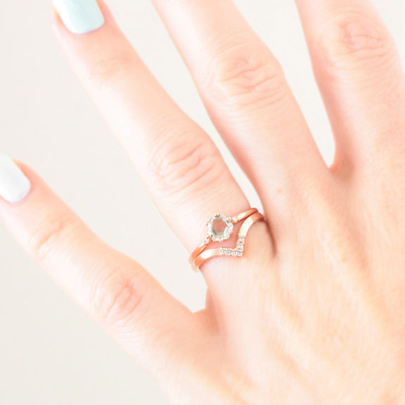 alternative engagement ring rose gold