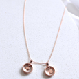 Heart charm necklace in 14k rose gold