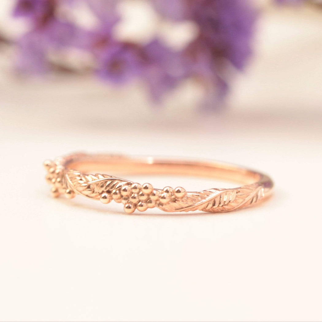 wattle leaf wedding band