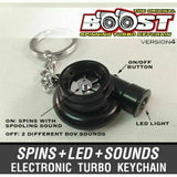 V4 Electric Spinning Turbo Turbine Key·Ring Keychain Ring Keyring Keyfob JDM