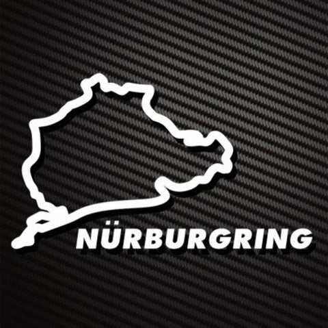 NURBURGRING WHITE Sticker Decal for Toyota Supra FT86 Scion BRZ Hyundai I30 I30N