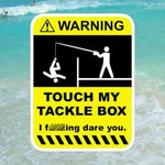 MA15 Tackle box Warning Sticker Decal for Plano New Phase Fish Fishing Boat Fly