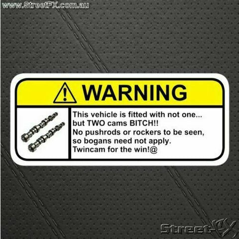 TWINCAM Visor Warning Sticker Decal Funny for Toyota Nissan